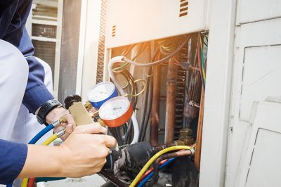 Part of our maintenance service for Louisville, KY homes is to check the CO2 alarm.
